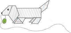 Оригами пес - получить декларацию просто